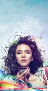Learn How to Photo Manipulate the Colorful Portrait - Transcendental