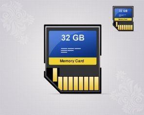 How To Create Memory Card Icon in Photoshop
