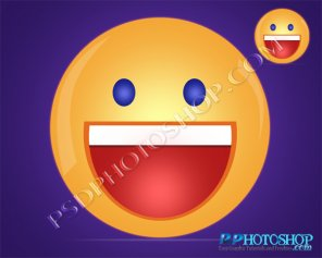Learn To Create Yahoo Smiley Vector in Photoshop