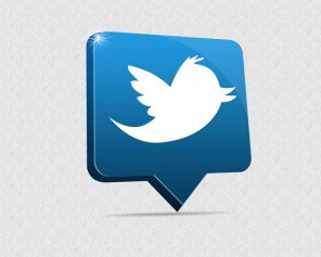 Create a 3D Twitter Icon