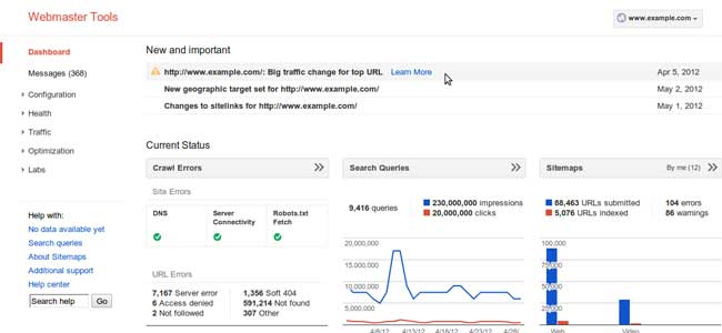 google webmaster tools Are you on the Google list of Blacklisted Sites? 6 Tools to Check