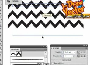 How to Create Chevron Brushe for Patterns (Video Tutorial)
