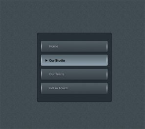 Create Dark Button Navigation in Photoshop