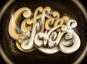 25+ Coffee Typography Art You Don't Want to Miss