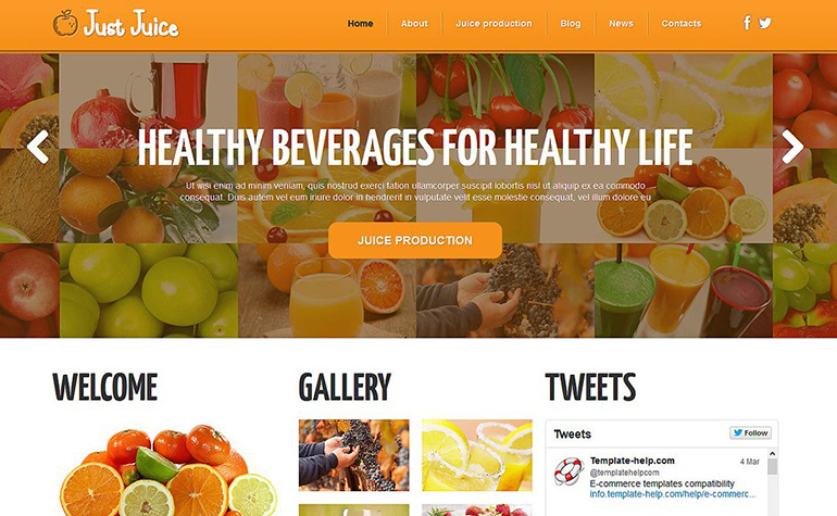 Food & Drink Joomla Template