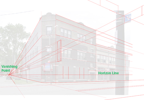 Creating an Architectural Illustration Using Reference Photography - Step 8