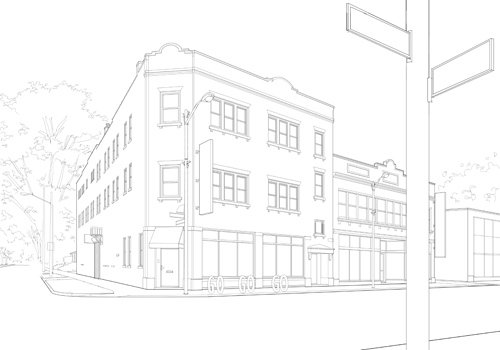 Line Drawing Vs Mass Drawing : Creating an architectural illustration using reference