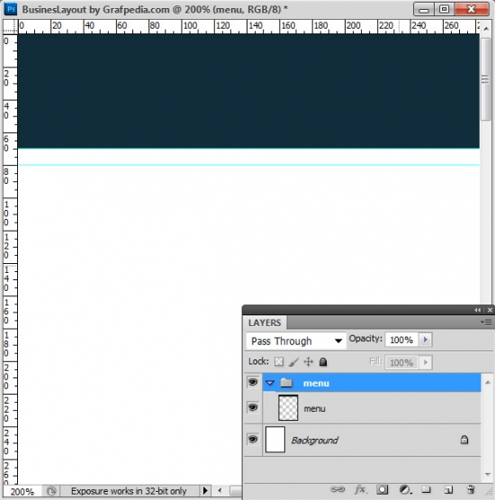 Photoshop tutorial - How To Design A Business Web Layout - step 3