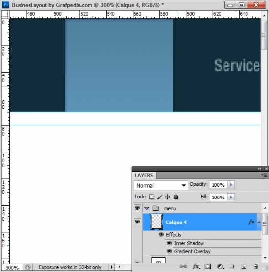 Photoshop tutorial - How To Design A Business Web Layout - step 6