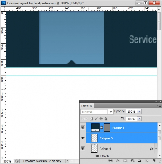 Photoshop tutorial - How To Design A Business Web Layout - step 7