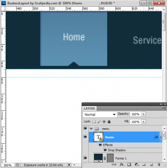 Photoshop tutorial - How To Design A Business Web Layout - step 8