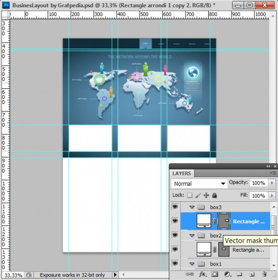 Photoshop tutorial - How To Design A Business Web Layout - step 20