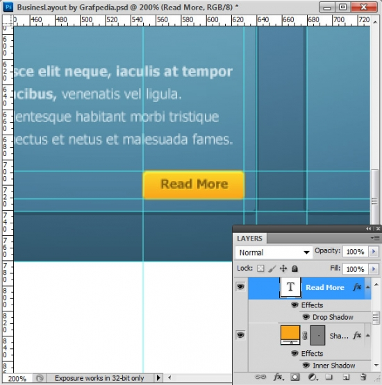 Photoshop tutorial - How To Design A Business Web Layout - step 32