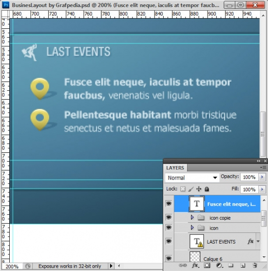 Photoshop tutorial - How To Design A Business Web Layout - step 35