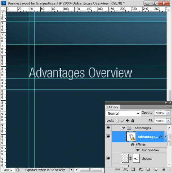 Photoshop tutorial - How To Design A Business Web Layout - step 41