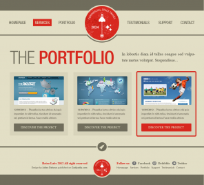 Design a Vintage Portfolio Using Photoshop