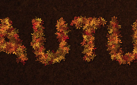 Colorful Autumn Text Effect