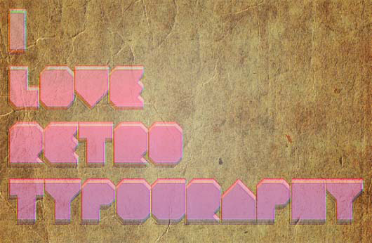 How to Make a Retro Text Effect - Photoshop Tutorial