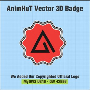Create 3D Vector Retro Badge