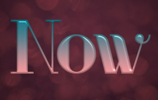 Ombre Text Effect step 4