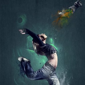 Learn How To Create a Dancer Photo Manipulation with Line Art