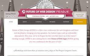 Future of Web Design (FOWD) is Arriving at Prague this November!