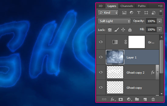 Ghostly Text Effect step 6