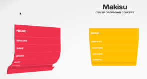 Sushi-Inspired CSS 3D Navigation for jQuery