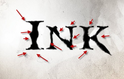 2 erase 1 500x320 Create a Dissolved Ancient Ink Text Effect in Photoshop