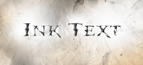 3 effect 500x230 Create a Dissolved Ancient Ink Text Effect in Photoshop