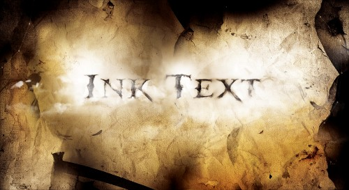 ink text flatten 500x273 Create a Dissolved Ancient Ink Text Effect in Photoshop