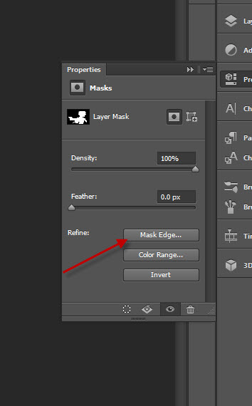 1 mask edge Quick and Effective Hair Extraction Techinque via Refine Mask in Photoshop (CS5+)