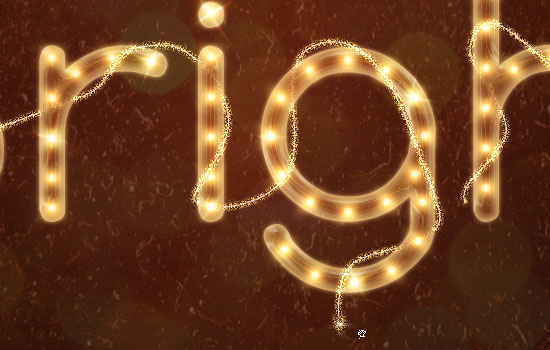 Rope Light Text Effect step 13