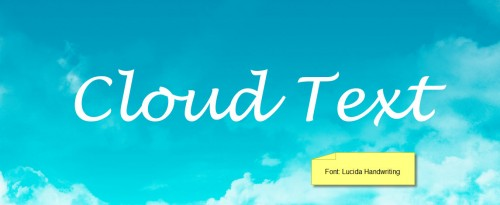 2 font 500x205 Design an Interesting Cloud Text Effect in Photoshop