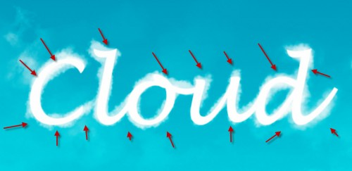 2 paint 2 500x243 Design an Interesting Cloud Text Effect in Photoshop