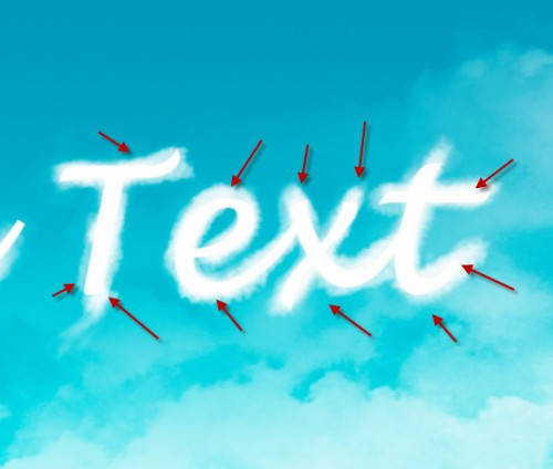 2 paint 500x424 Design an Interesting Cloud Text Effect in Photoshop