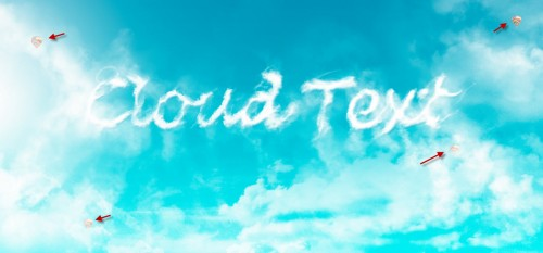 3 balloon 500x233 Design an Interesting Cloud Text Effect in Photoshop