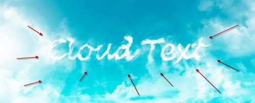 3 paint 500x202 Design an Interesting Cloud Text Effect in Photoshop