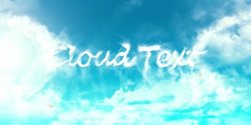 cloud text flatten1 500x250 Design an Interesting Cloud Text Effect in Photoshop
