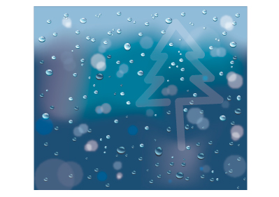 Vector Illustration Tutorial: Rainbdrops On My Window