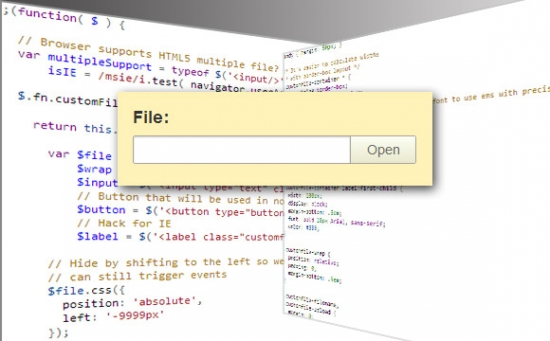 How to Create a Custom File Input with jQuery, CSS3 and PHP