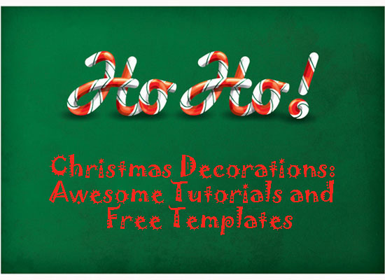 Christmas Decorations: Awesome  Tutorials and Free Templates!