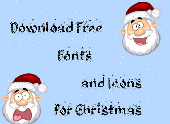 Download Free Fonts and Icons for Christmas