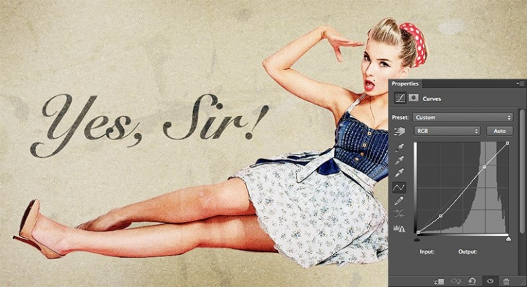 1950s Pin Up Poster in Photoshop