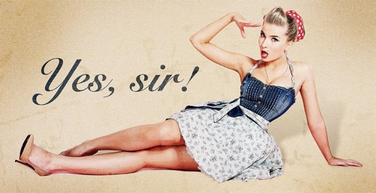1950's Pin Up Poster in Photoshop
