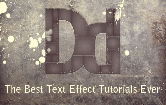The Best Photoshop Text Tutorials Ever