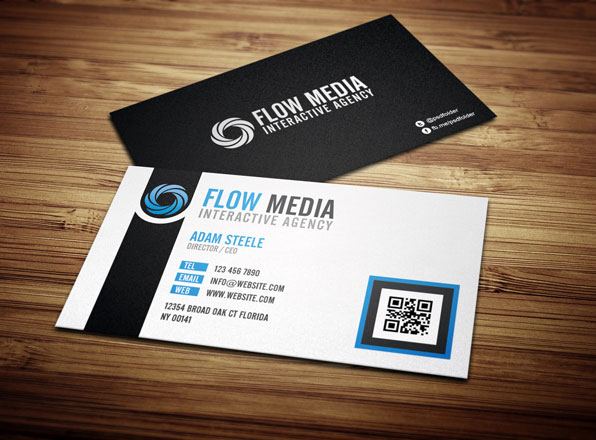 30 cool but still free business cards inspiration flow business cards in 3 colors reheart Image collections