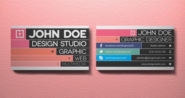 Cool But Still Free Business Cards Inspiration - Design business card template