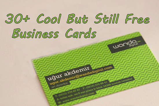 30+ Cool But Still Free Business Cards