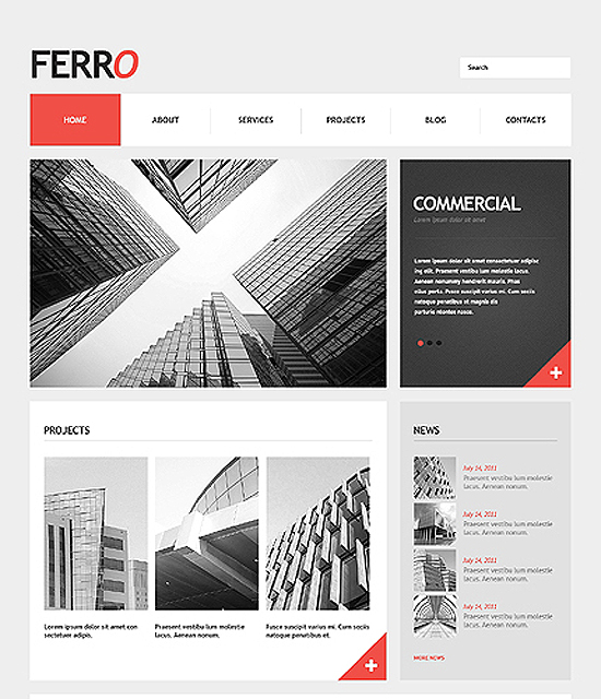 Ferro Commercial Wordpress Theme